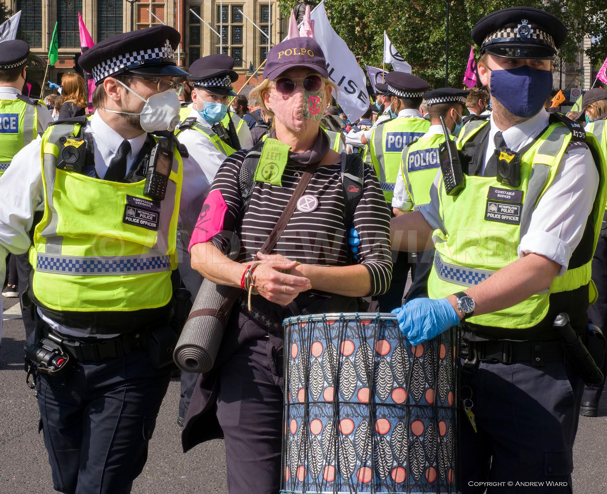 England, UK. 2.9.2020. London. Parliament Square. Extinction Rebellion, day 2 of 10 day UK-wide climate action..