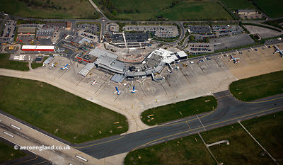 Leeds Bradford Airport  aerial photograph