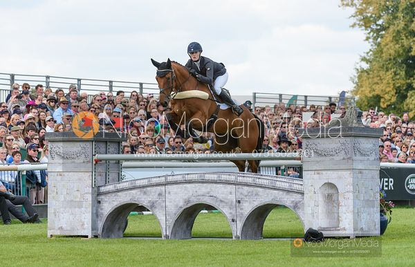 Alicia Hawker and CHARLES RR - Show jumping and prizes - Land Rover Burghley Horse Trials 2019