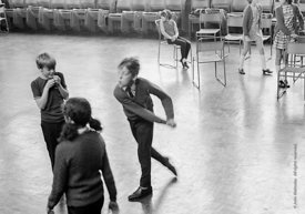 #83678,  Drama class, Whitworth Comprehensive School, Whitworth, Lancashire.  1970.  Shot for the book, 'Family and School, P...