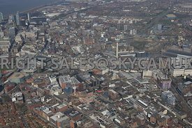 Liverpool the area surrounding the Ropewalks including Duke Street Seel Street Slater Street and Wood Street areas with Liver...