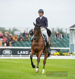 Chris Talley and UNMARKED BILLS - Dressage - Land Rover Burghley Horse Trials 2019