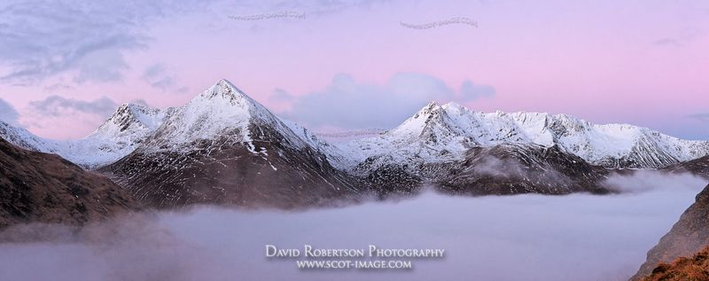 Image - The Saddle and Faochag, Glen Shiel, Kintail, Scotland, Panoramic