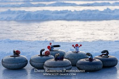 Image - Curling stones on ice, Scotland