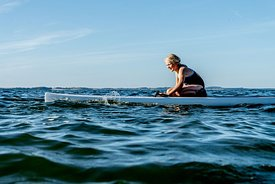 Standup paddle surfing on Mors, Denmark 10