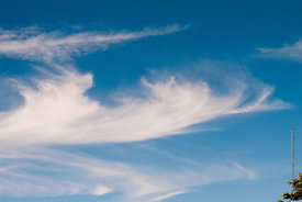 #061922,  High cirrus clouds above the Isle of Wight, Hampshire.