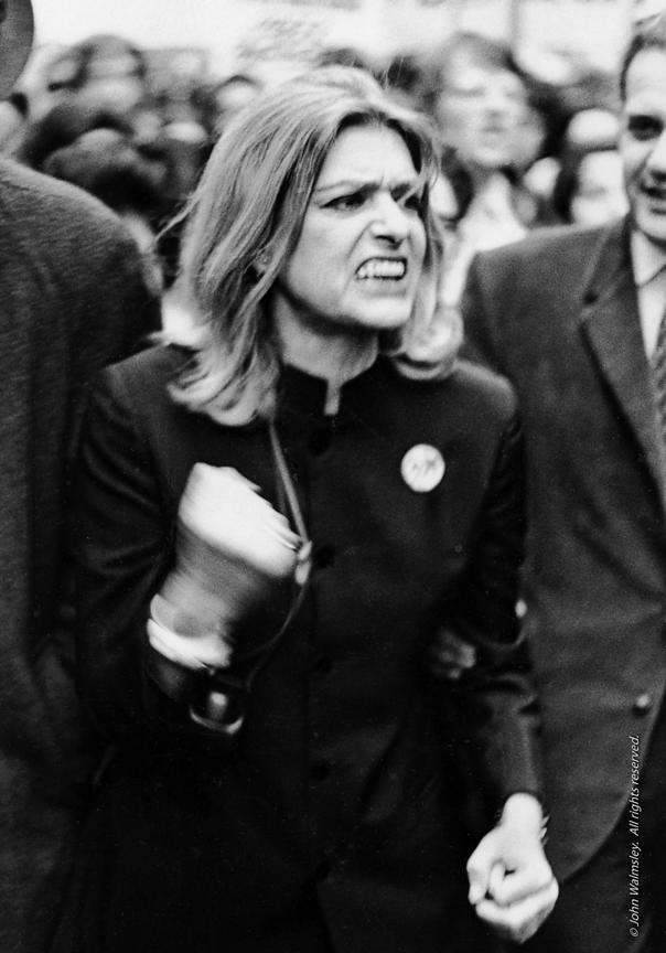 #57727,  Melina Mercouri leading a demonstration in London against the Greek Colonels.  1969.