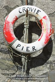 Image - Crovie Pier Life Buoy, Scotland