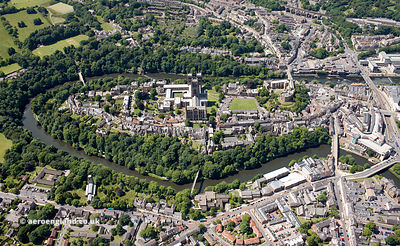 Durham Cathedral, Durham Castle and Durham University aerial photograph