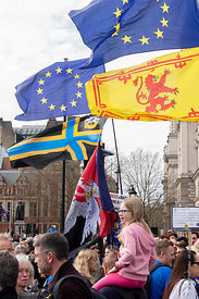 #124583,  Anti-Brexit march to Parliament Square, London, 23rd March 2019.  A million people of all ages marched demanding a ...