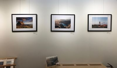Exhibition of the images in the 2019 Discover Cymru calendar