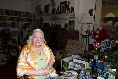 Joan Rhodes (13 April 1921 - 30 May 2010) at her home in London 5 April 2008