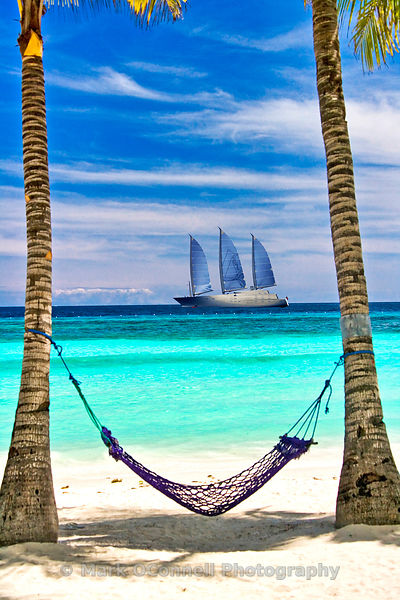Sailing yacht A in the Caribbean