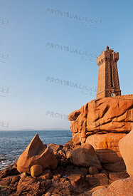 Lighthouse on a Rocky Coast