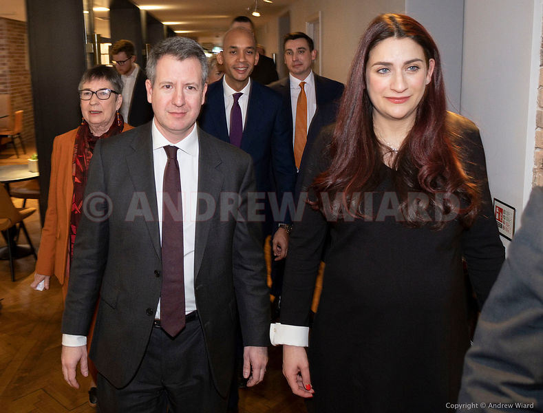 England, UK . 18.2.2019. London . Seven Labour MP's, 'The Independent Group', Chuka Umunna, Luciana Berger, Gavin Shuker, Ang...