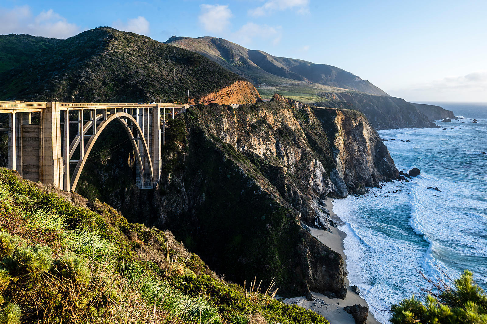 Bixby Creek Bridge, Californie, USA.