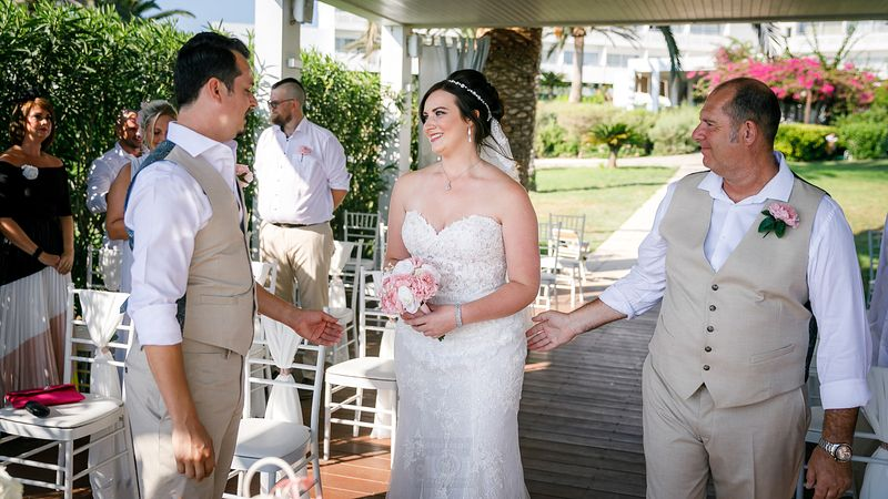 Wedding at Nissi Beach Resort, Cyprus