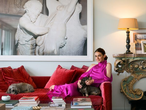 Marie Louise Scio at home in Roma