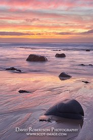 Image -Beach and seascape at sunset, from Port Corbert, near Bellochantuy, Kintyre, Argyll and Bute, Scotland