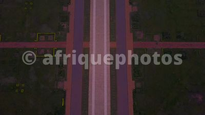 Yamoussoukro Cathedral from above, Ivory Coast