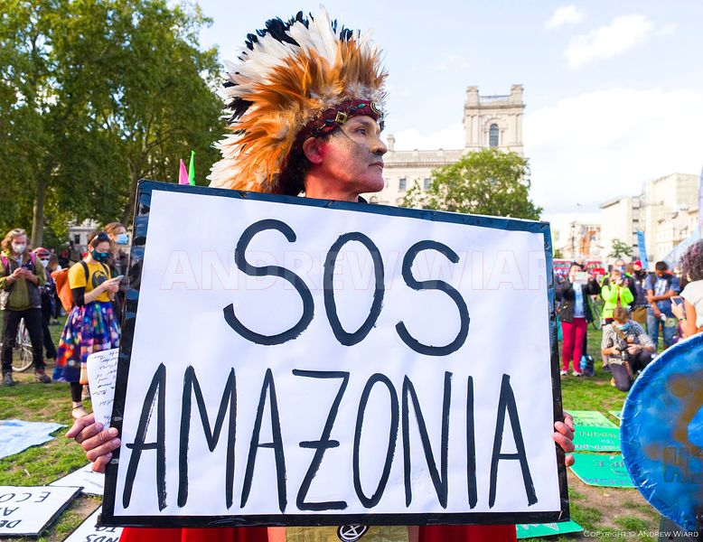 England, UK. 5.9.2020. London. Parliament Square. Extinction Rebellion Amazonia Alliance for International Indigenous Women's...