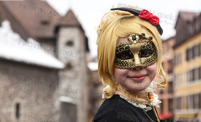 Portrait of a Girl in Mask
