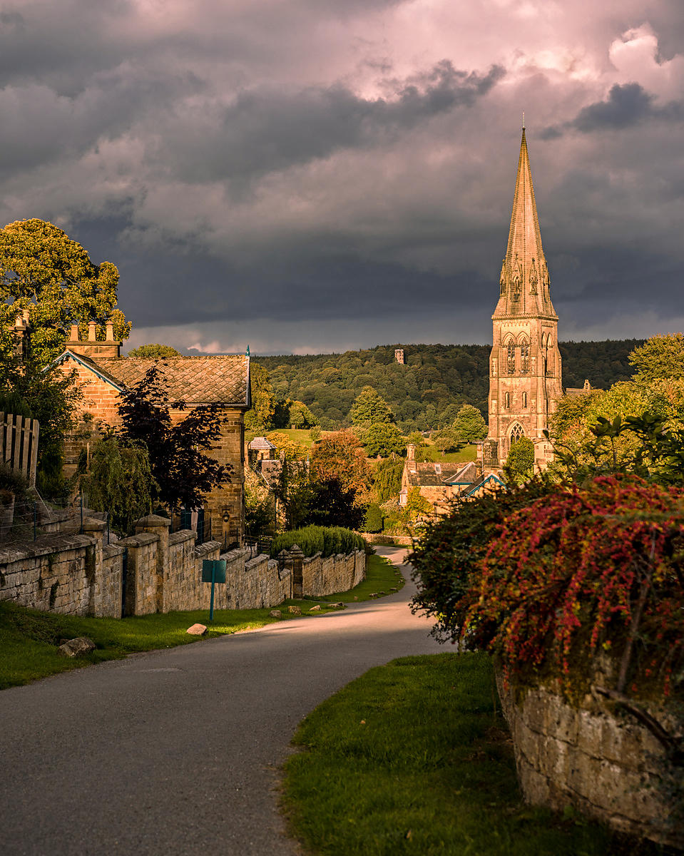Edensor evening light