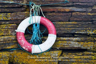 Image - Lifebuoy and harbour wall