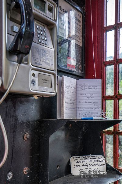 BAMPTON 11A - Visitor book in the 'Withnail and I' phone box