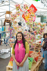 #029120,  Mandeep Kaur Dhiman and her textile designs, Royal College of Art Degree Show, London 2007