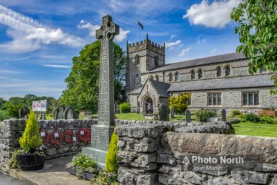 INGLETON 04A - War Memorial and St. Mary's Church