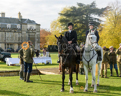 Jeremy and Etti Dale at the meet - Fitzwilliam Hunt Opening Meet