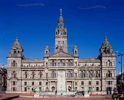 Image - George Square, City Chambers, Glasgow, Scotland