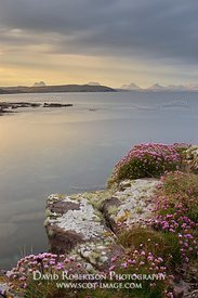 Image - View from Stoer Peninsular to the mountains of Assynt, Sutherland, Highland, Scotland. LtoR , Suilven, Cul Beag, Cul ...