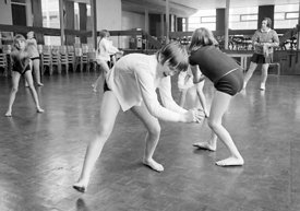 #83720,  Music & Movement, Whitworth Comprehensive School, Whitworth, Lancashire.  1970.  Shot for the book, 'Family and Scho...