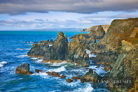 Cliff landscape  - Europe, Ireland, Waterford, Bunmahon, Knockmahon (Copper Coast) - digital