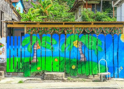 Dominica Street art in Soufrière village