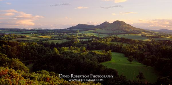 Image - Eildon Hills Panoramic from Scott's View, Scottish Borders