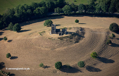 Burrow Mump Somerset from the air