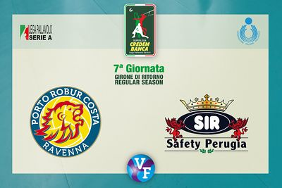 Consar RAVENNA vs Sir Safety Conad PERUGIA, 7ª giornata, girone di ritorno regular season, Superlega Credem Banca, Campionato...