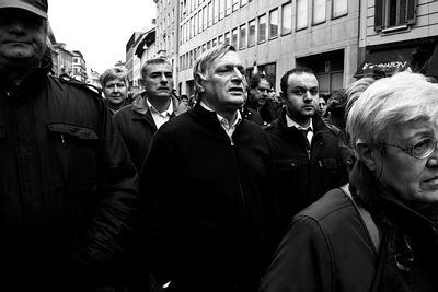 Don Luigi Ciotti at the annual demonstration to remember innocent mafia victims organized by Association Libera.