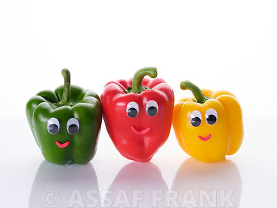 Multicoloured bell pepper