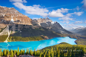 Mountain landscape with Mount Patterson at Peyto Lake - North America, Canada, Alberta, Banff National Park, Peyto Lake (Rock...