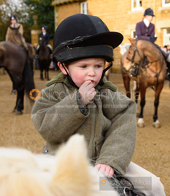 Archie Smales at the meet. The Cottesmore Hunt at Pickwell 31/12