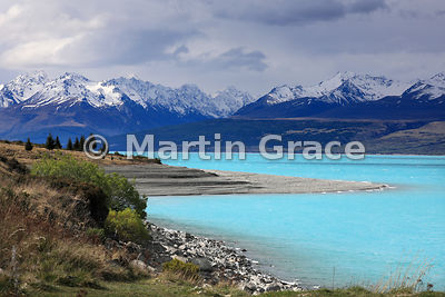 Lake Pukaki looking north-east, Canterbury, South Island, New Zealand