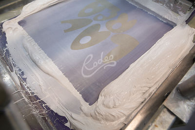 Fabric printing with white