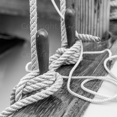 Classic yacht wall art of rope around pegs