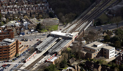 East Finchley tube station London from the air