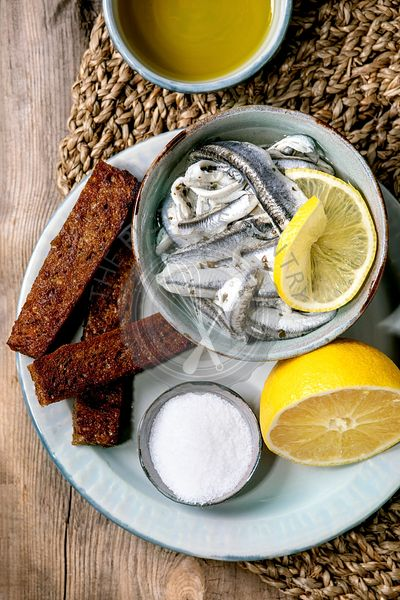 Anchovies or sardines fillet