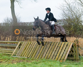 Hermione Brooksbank jumping a hunt jump after the meet